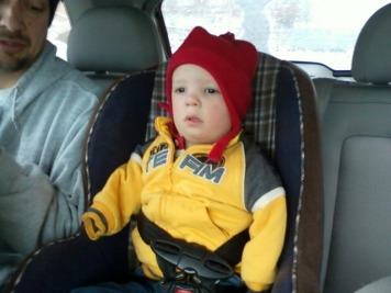 February 7, 2011 - going to school 1st time!