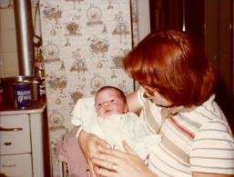 Janel and Godmother 6 days old 2