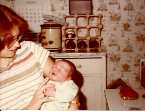 Janel and Godmother 6 days old
