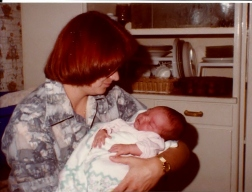 Janel and Godmother 7 days old