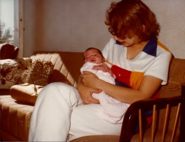 Janel and Mommy 7 day old