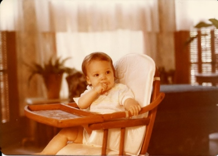 Janel in highchair