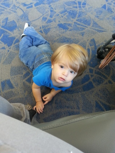 October 5, 2014 - Flying to Florida for one of Drew's follow-ups